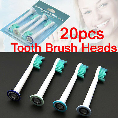 AU21.95 • Buy NEW 20 PCS Electric Tooth Brush Heads Replacement For Philips Sonicare HX6014