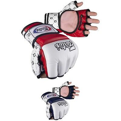 $54.95 • Buy FAIRTEX AMATEUR COMPETITION GLOVES In Genuine Leather, Thumb Support. Free Ship
