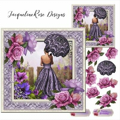 £1.15 • Buy Ladies &Floral's 02 Decoupage 1 A4 Sheet 180gsm Glossy Photo Paper NOT PRE CUT