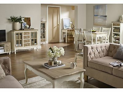 Juliette Cream & Pine Living Room Furniture -Tables Storage Cabinets Chairs • 128.95£