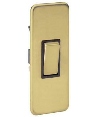 £14.65 • Buy 10a 1g 2w Screwless Magnetic Satin Brass Architrave Plate Switch 48694