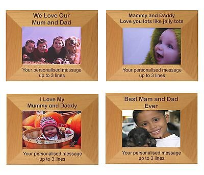 Personalised Mum Dad Gift Mammy Daddy Christmas Love Photo Frame Son Daughter • 16.99£