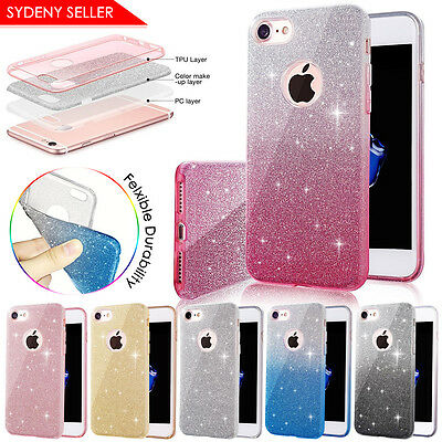 AU9.99 • Buy Extremely Sparkly Hybrid ShockProof Bling Glitter Rubber Case For Apple IPhone 7