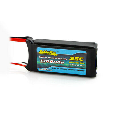 $ CDN19.76 • Buy HobbyStar 1300mAh 2S 7.4V 35C LiPo Battery EC3 Plug