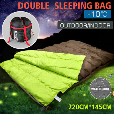 AU59.99 • Buy Mountview Double Sleeping Bag Bags Outdoor Camping Hiking Thermal -10℃ Tent Sack