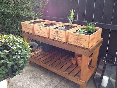 1 X 12 BOTTLE LARGE FRENCH WOODEN WINE CRATE / BOX IDEA GARDEN PLANTER POT • 19.95£