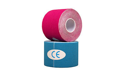 Kinesiology Tape. Blue/Pink. Sports Strapping, 6 Metres X 5cm • 5.99£