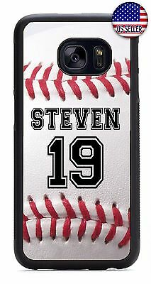 $ CDN20.39 • Buy Baseball Personalized Name Number Case Cover For Samsung S8 S7 S6 Edge Note 4 5