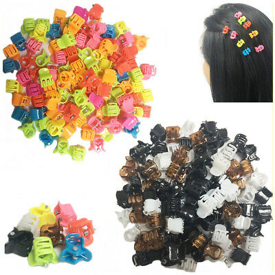 £5.95 • Buy 100 Hair Mini Claw Clips Clamp Butterfly Jaw Riser Bulldog Grip Kids Mix Colour