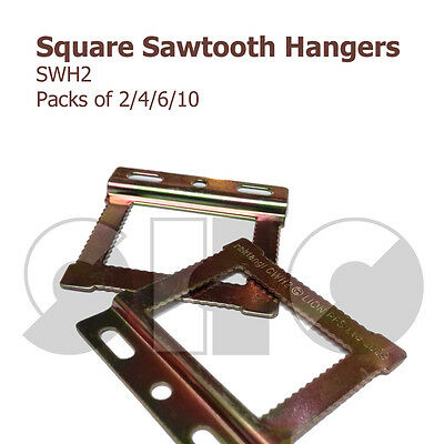 CWH2 Square Sawtooth HANGERS For Frames With Flat/papered Backs 2/4/6/10  • 2.45£