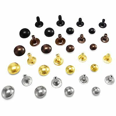 £3.09 • Buy Domed Single Cap Rivets 6 7 9 Or 10 Mm Mm Cap Diameter Studs Sewing Leather