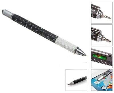 6-in-1 Multi-Tool Pen Compact DIY Gadget Includes Screwdrivers & Spirit Level UK • 6.95£