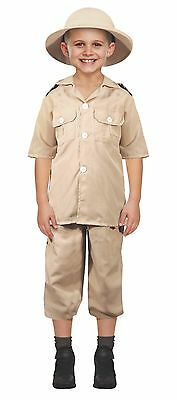 Fancy Dress Childrens Safari Explorer Costume NOW AVAILABLE WITH HAT Fits 4-12 • 9.75£