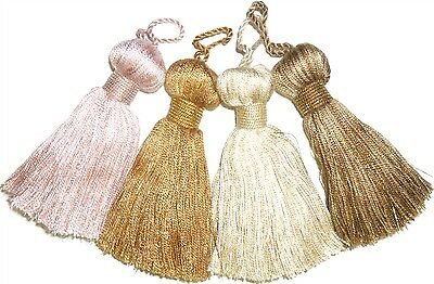 Soft Onion Key Tassels, Assorted Cols, X4, Cushions, Blinds, Curtains, Art 5159 • 3.99£