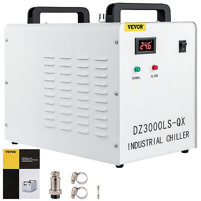 £124.96 • Buy CW-3000DG Industrial Water Chiller For 60W/80W CO2 Glass Laser Tube Cooling 220V