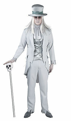 Mens Deluxe Scrooge Victorian Corpse Groom Ghost Costume Fancy Dress Outfit NEW • 36.99£