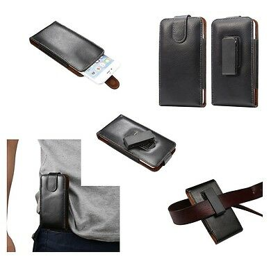 AU44.95 • Buy For ZTE NUBIA Z7 MAX Genuine Leather Holster Case Belt Clip 360° Rotary Magnetic