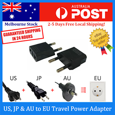 AU5.99 • Buy US / AU To EU AC Power Plug Adaptor Travel Converter