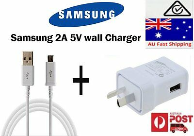 AU9.90 • Buy Genuine Samsung Ac Wall Charger USB Cable For Galaxy S3 S4 S6, Note 2
