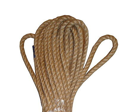 Natural 100% Jute Rope Twine Cord Twisted Braided Decking Boating Sash • 18.23£