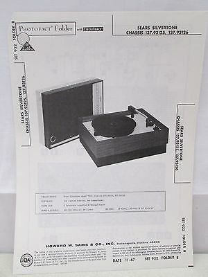 $ CDN20.66 • Buy Sams Photofact Folder Parts Manual Sears Silvertone Chassis 137.93125 Record