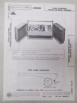 $ CDN20.66 • Buy Sams Photofact Folder Parts Manual Sears Silvertone Chassis 528.63690 Etc Record