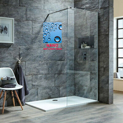 Walk In Shower Cubicle Enclosure And Tray &Waste Screen Panel Wet Room • 218.99£