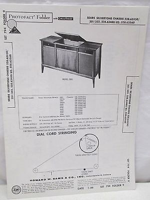 $ CDN20.66 • Buy Vtg Sams Photofact Folder Radio Parts Manual Sears Silvertone Chassis 528.63350