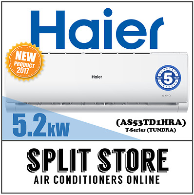AU995 • Buy Haier 5.2kW T-Series Split System Inverter Air Conditioner - AS53TD1HRA (TUNDRA)