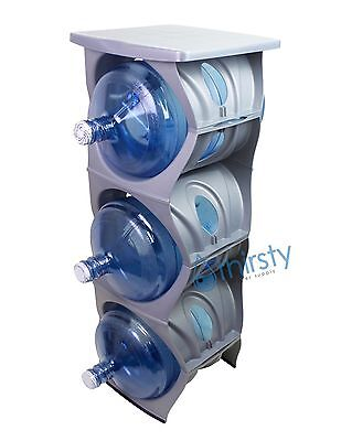 $ CDN114.10 • Buy Silver Water Bottle Holder Stand 3 & 5 Gallon Rack 3 Tier Stack Table Counter