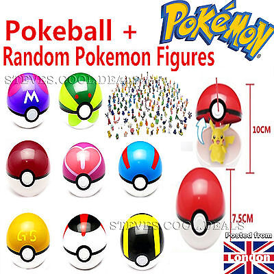 UK POKEMON Go Pokeball Pop Up 7cm Plastic Ball Toy Action Figure Games Stickers  • 9.88£