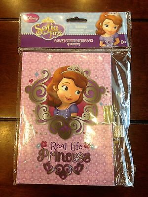 AU9.02 • Buy Disney Sofia The First Children's Large Diary Journal With Lock & Keys 45 Sheets