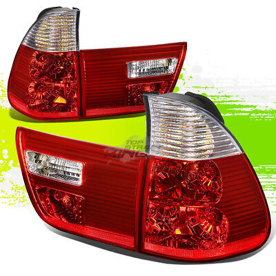 $106.94 • Buy For E53 00-06 Bmw X5 Clear Housing Red Led Rear Signal Tail Lights/lamps Kit