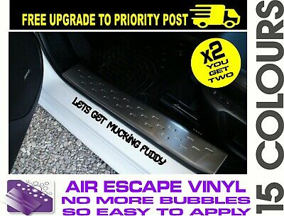 AU6.90 • Buy 2x MUD Funny 4x4 Door Sill Pair Ute 4wd Stickers Decals