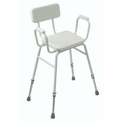 £40.80 • Buy Aidapt Malling Perching Stool With Adjustable Height & Padded Back Arms And Seat