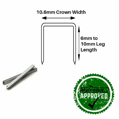 Arrow T50 140 Series Stainless Steel Flat Wire Staples 6mm, 8mm, 10mm 1,000 Box • 15.29£