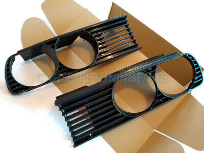 $27.99 • Buy Bmw E30 3 Series 1982-1994 Front Grill Grills Black Euro M Tech Left Right - Set