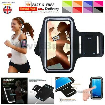 Sports Gym Running Jogging Cycling Exercise Yoga Armband Case For Galaxy Phones • 3.99£