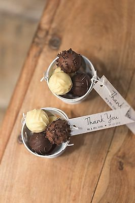 £44.99 • Buy 15 Wedding Favour Pails Filled With Belgian Truffles