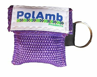 CPR Life Key (Purple) / Resusitation Face Shield In Key Ring Pouch Ambulance 999 • 2.89£