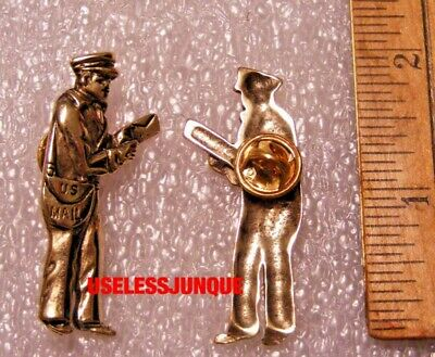 $7.99 • Buy Us Postman Mail Carrier Hat Pin Gold Plated Free Shipping In Usa