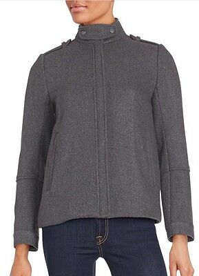 AU323.13 • Buy NWT $625 Sz. 0 VINCE Twill Wool Jacket Coat Medium Heather Gray
