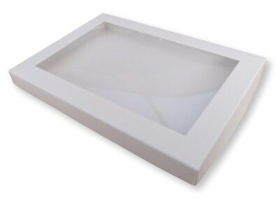 £5.99 • Buy 5 White A5 Window Boxes, Gift, Greeting Cards, Books, Dvds  Etc