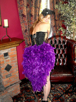 Burlesque Feather Waterfall Showgirl Tie On Bustle Skirt White Red Black Pink  • 22£