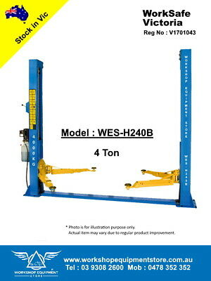 AU2600 • Buy NEW 2 Post 4 Ton Hoist Vehicle Lift Car Lift * WorkSafe VIC Approved * WES-H240B