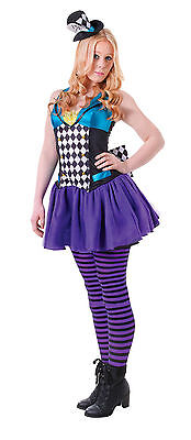 £12.99 • Buy Girls Alice In Wonderland Mad Hatter Fancy Dress With Hat Costume Outfit 11-12