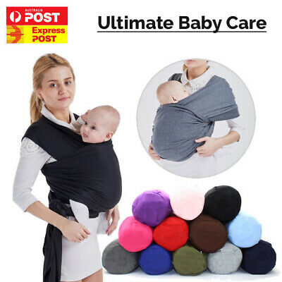 AU28.95 • Buy Baby Sling Cotton Adjustable Wrap Carrier Infant Breastfeeding Pouch Newborn