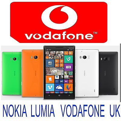 Nokia Lumia 510 520 635 640 720 735 930 1020 1320 1520 Unlock Code Uk Vodafone • 2.99£