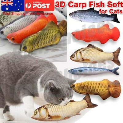 AU9.54 • Buy Pet Cat Play Fish Shape Mint Catnip Chewing Kids Gifts Interactive Scratch Toy