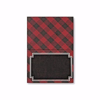 £7.75 • Buy Place Cards Black And Red Plaid Black Chalk Board Name Place Pack 36